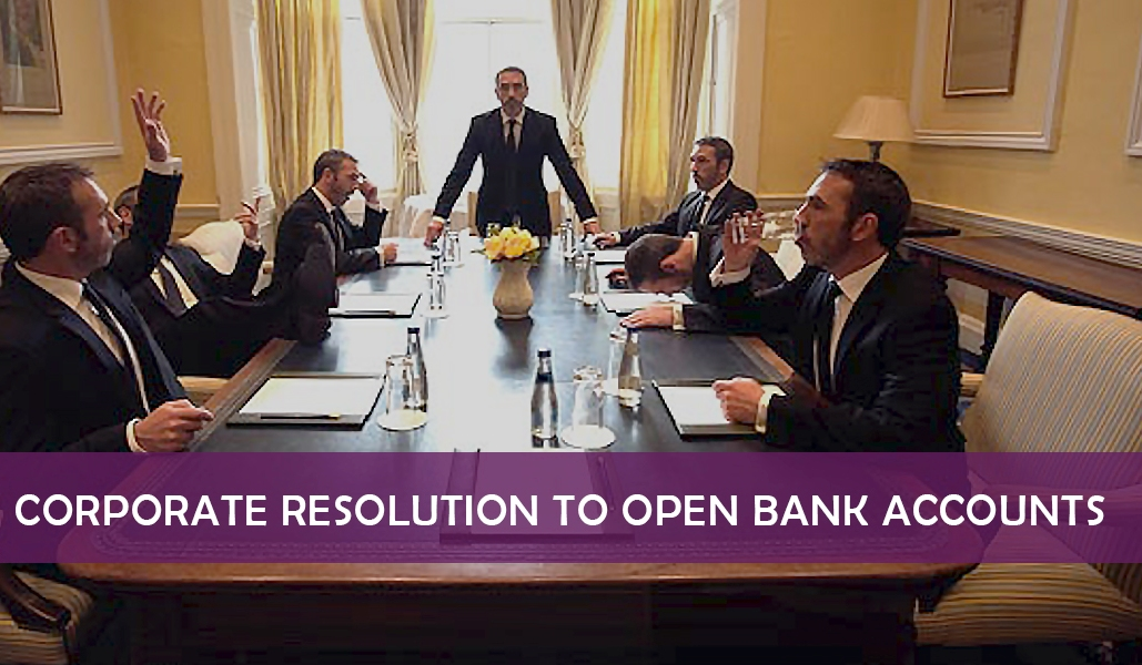 Board Resolution to Open Bank Account